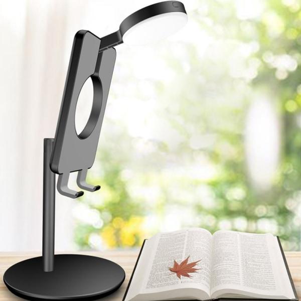 Smartphonehållare Multifunktionell utfyllningslampa Desktop Mobile
