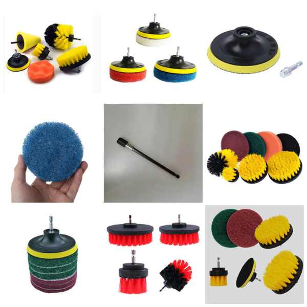 Soft Electric Drill Brush Cleaner Tool For Cleaning Carpet Leat 10PCS