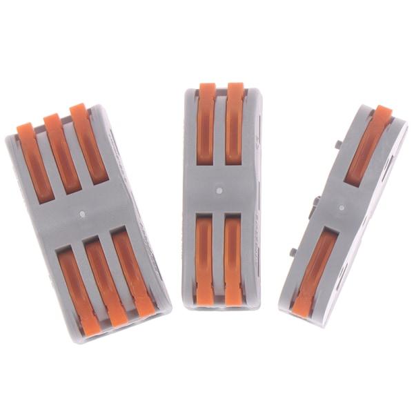 SPL-1 2 3-vägs återanvändbar fjäderhandtag Terminalblock Elektrisk hytt