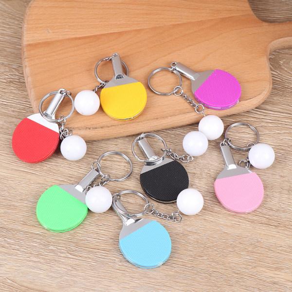 Sport Ping Pong Table Tennis Keychain Key Chain Keyring Key Rin Black