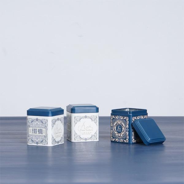 te förseglad låda kök förvaring tenn kvadrat kan godis järn caniste