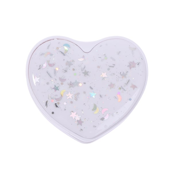 Universal Heart Round Folding Glitter Mobiltelefonhållare Grepp