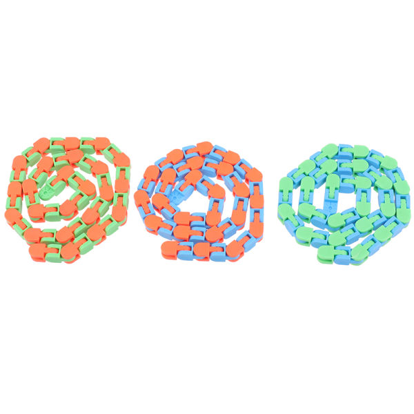 Wacky Track Snap and Click Toys Kids Autism Snake Puzzles Classi One Size