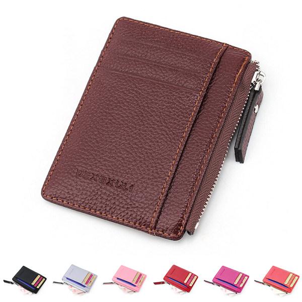 Plånbok smal penningklämma kreditkortsinnehavare ID-företag mens Faux