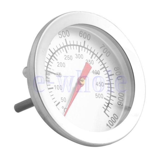 Ugns- / grilltermometer i rostfritt stål 50 ° C-500 ° C Matlagningsgrill