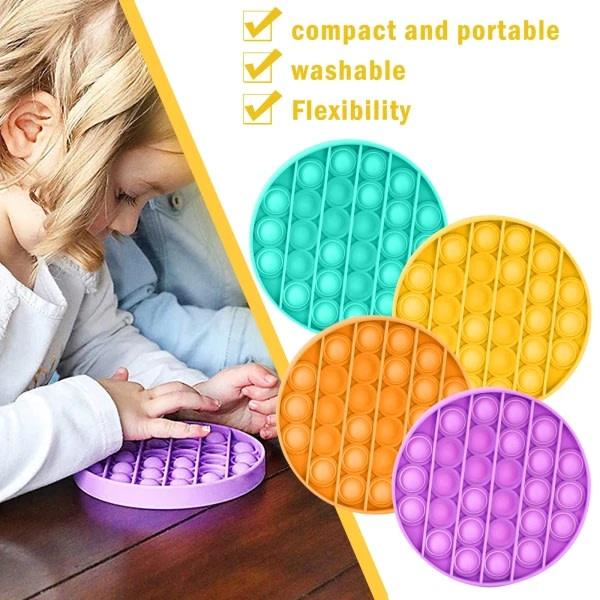 Bubble Push Pop Family Toy - Pop it Toy Fidget Toys Yellow Circle