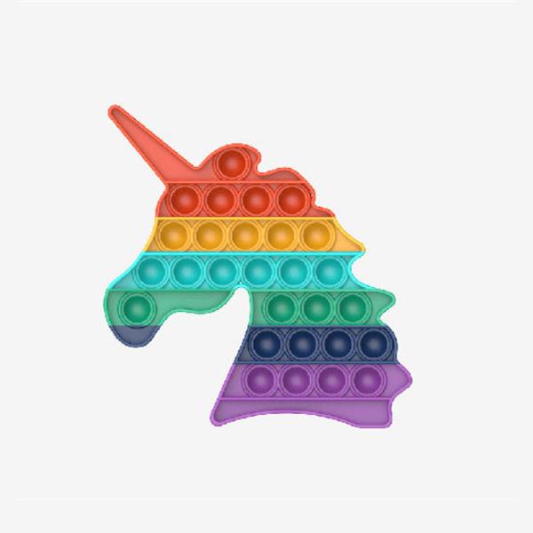 Pop It Fidget Toy - Relax Unicorn - Rainbow Rainbow
