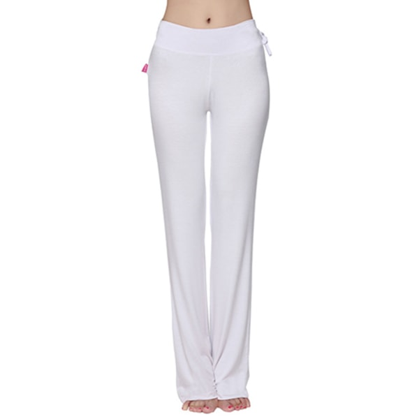 Women Cotton Spandex Yoga Lounge Sports Pants Rose L