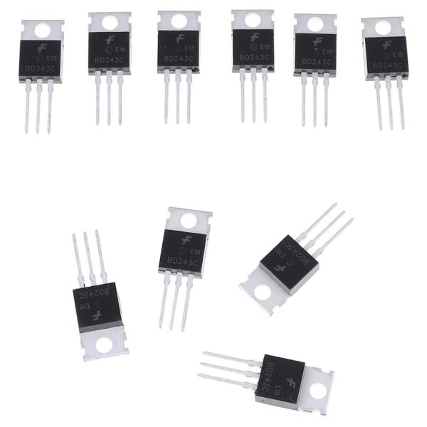 10ST BD243C TO-220 6A / 100V bipolära transistorer allmänt ändamål