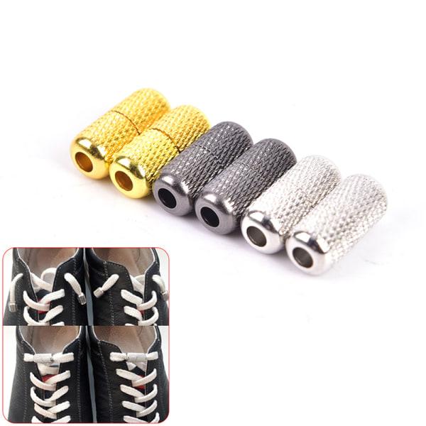 1Pair Shoelace Buckle Tieless Lace No Need Tie Shoelaces Lazy Shoelaces Buc WM