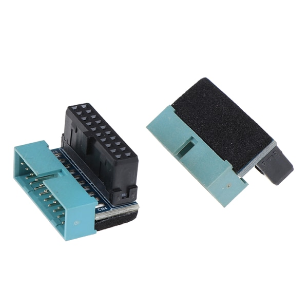 1Pc 20pin USB 3.0 Male to Female Extension Adapter Up Down Angle Down Angled