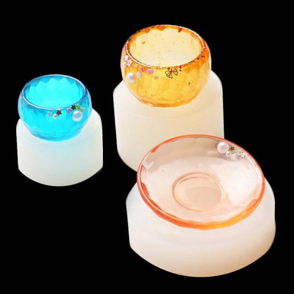 1pc Bowl Dish Silicone Mold Resin Molds DIY Simulation Bowl Jewe C
