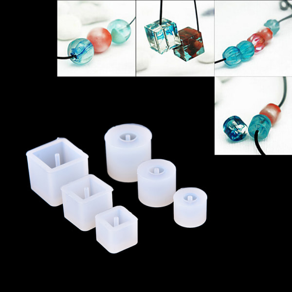 1X DIY Silikon Mögel Halsband Pärlor Hängande Med Hängande Hål M