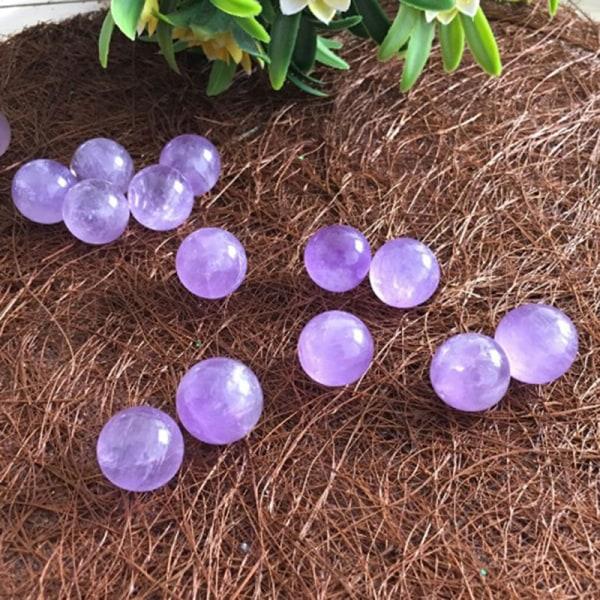 2st naturlig ametist kvarts sten sfär kristall fluorit boll