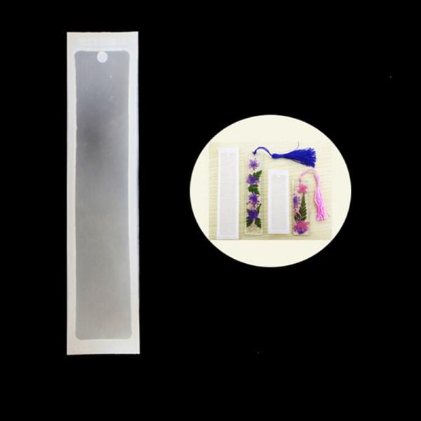 2pcs/set Silicone Rectangle Bookmark Mould Epoxy Resin Jewelry M