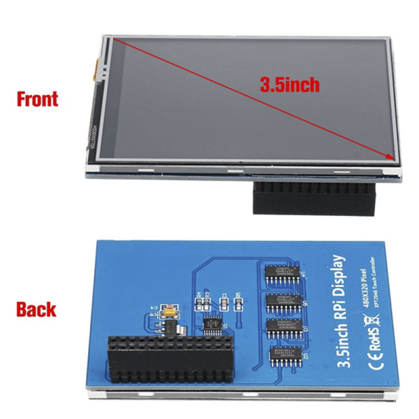 "3.5"" 320*480 TFT Touch Screen LCD Display Case For Raspberry Pi  Black"