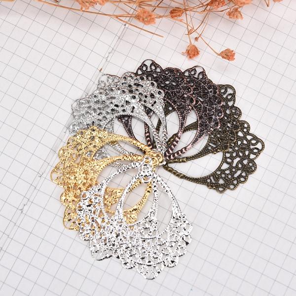 30st Filigree Wraps Metal Connectors Crafts DIY Charm Pendant