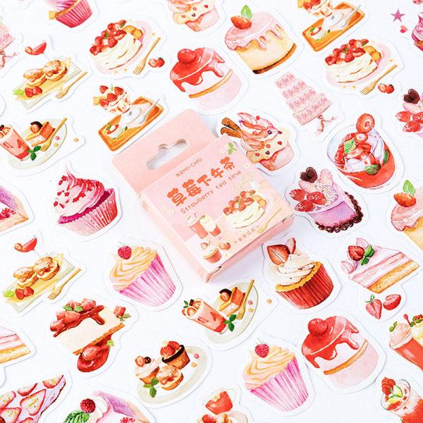 46st Söt jordgubbefterrätt DIY Diary Craft Stickers Scrapboo