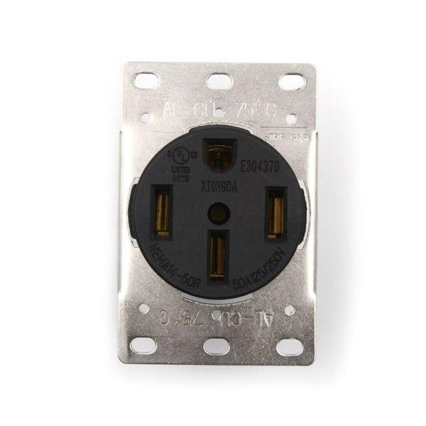 50A 125-250V Industrial Grade NEMA 14-50R Straight Blade US Four 0 0