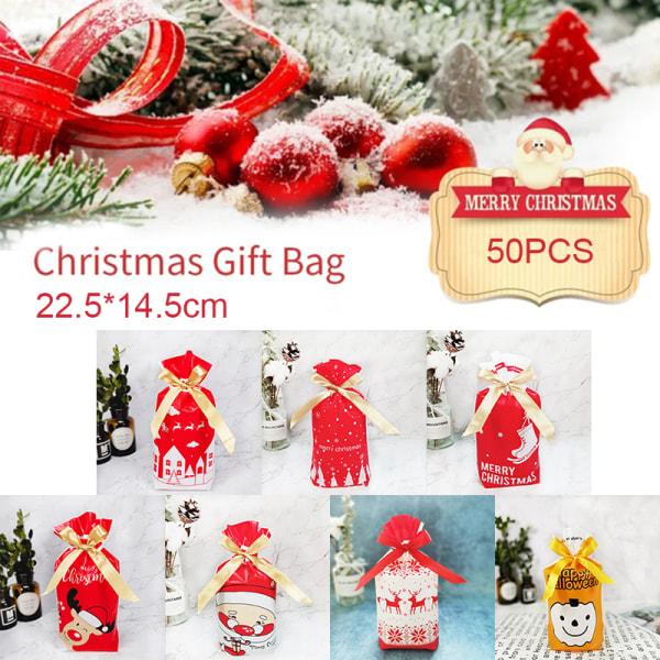 50st julkassar Santa Claus Packing Bags Halloween Xm