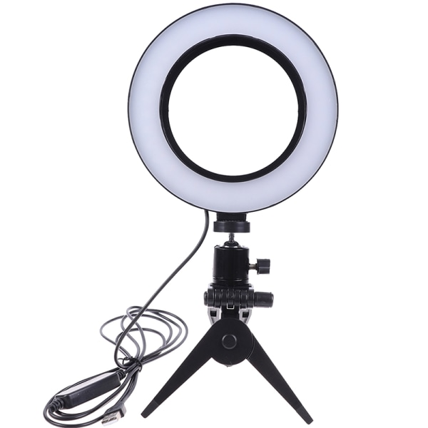 "6 "" LED Ring Light Lamp Selfie Camera Live Dimmable Phone Studio A"