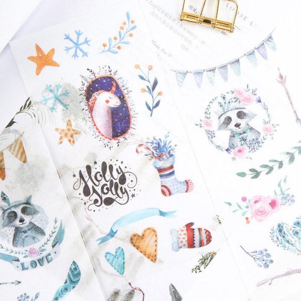 6st Fairy tale world självhäftande klistermärke DIY Decor Diary Statione