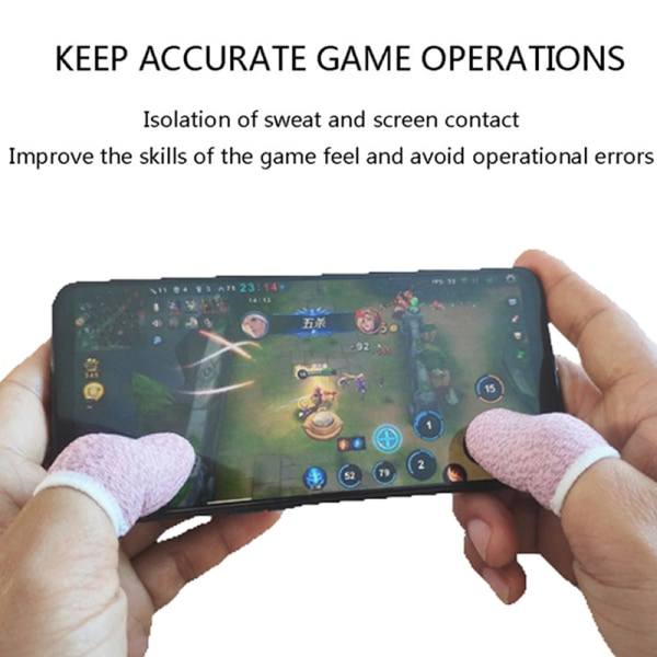 6Pcs Sweat-proof Mobile Game Thumb Finger Sleeve Touch Screen Se one size