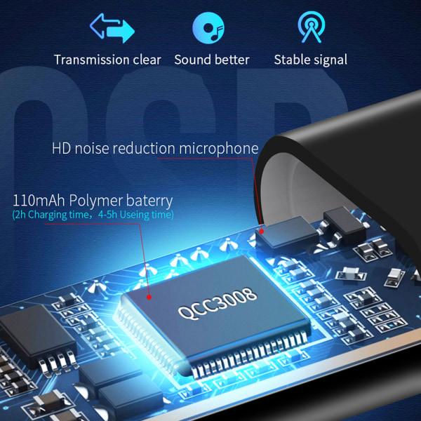 Bluetooth 5.0-mottagare för 3,5 mm jack hörlurar trådlöst ljud M