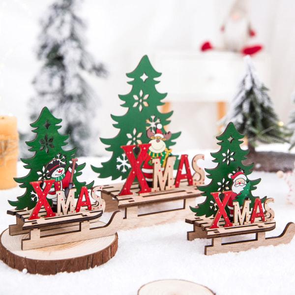 Juldekorationer för jultomten i trä Ny Jul