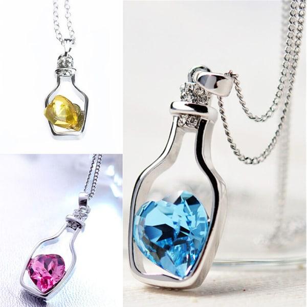 Creative New Fashion Necklace Ladies Popular Love Drift Bottles  Navy