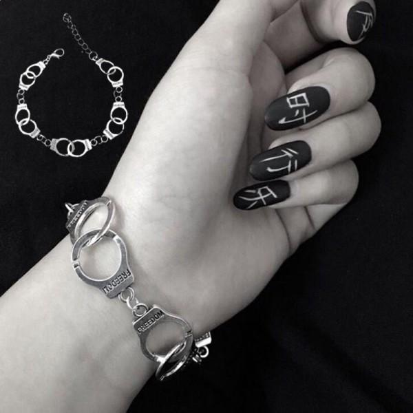 Mode Punk Freedom Handbojor Armband älskare par kedja Bang