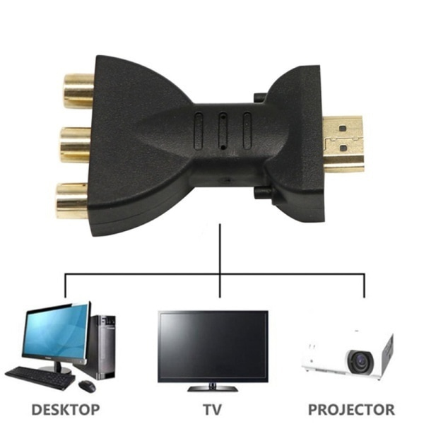 Flexible Portable HDMI to 3 RCA Video Audio AV Adapter Component 7x4x1.5cm