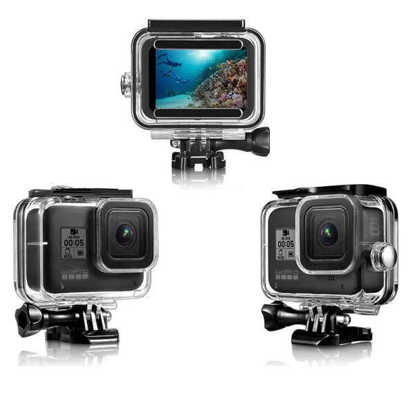 For GoPro hero 8 waterproof case and silicone case one size