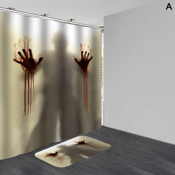 Halloween vattentäta duschar Gardin halkskydd Mattor matta