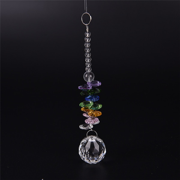 Hängande glas Crystal Ball Prism Pendant Ornament Rainbow Wedd