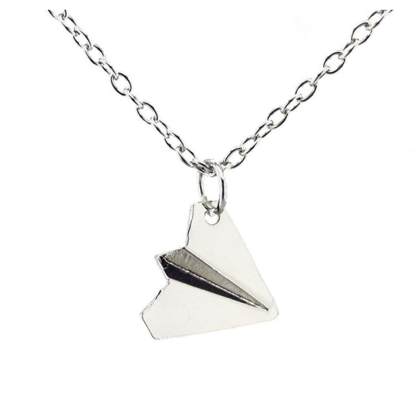 Harry Style Paper Airplane Pendant Necklace Jewelry Colla