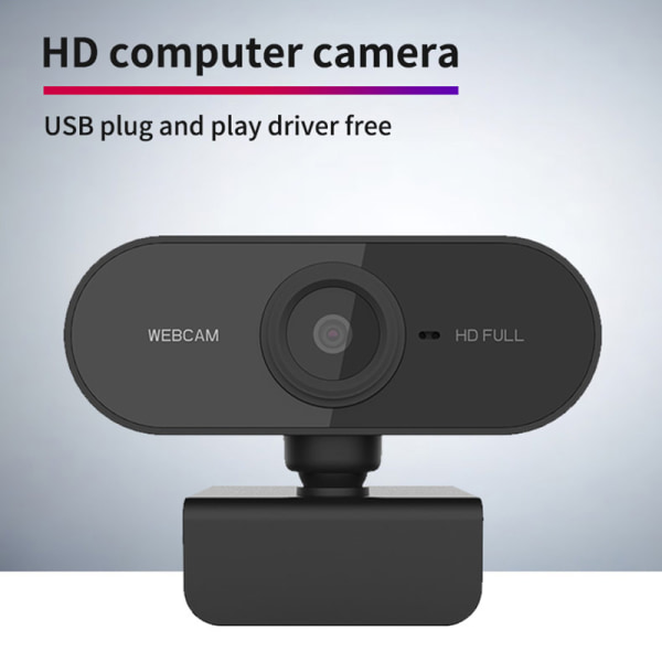 HD 1080P Webcam Auto Focusing Web Camera Cam W/ Microphone For  Black