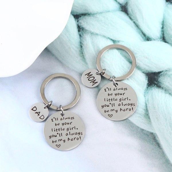 Jag kommer alltid att vara din lilla tjej DAD Keychain Father And Daughter