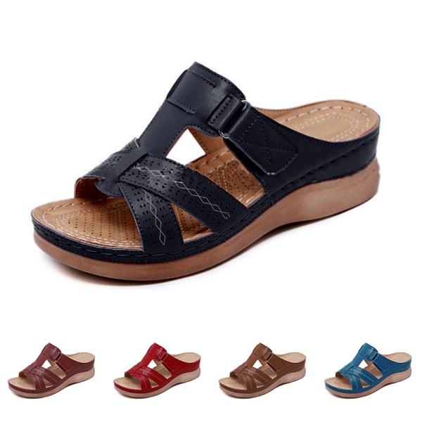 Kvinnor ortopedisk häl Slip On Sandaler med öppen tå sandaler Sho