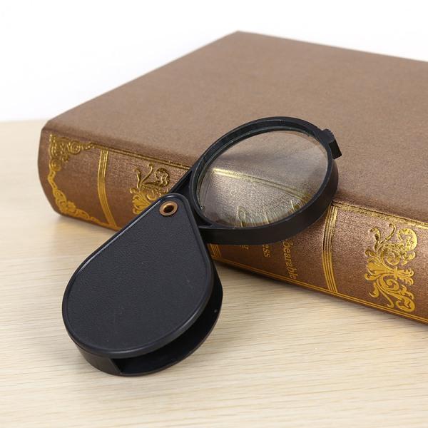 Ny Hot Folding 10X Mini Pocket Smycken Förstoringsglas Förstoringsglas Ey