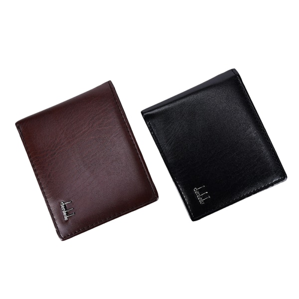New Men's Faux Leather Purse Handbag ID Credit Card Holder Walle Brown