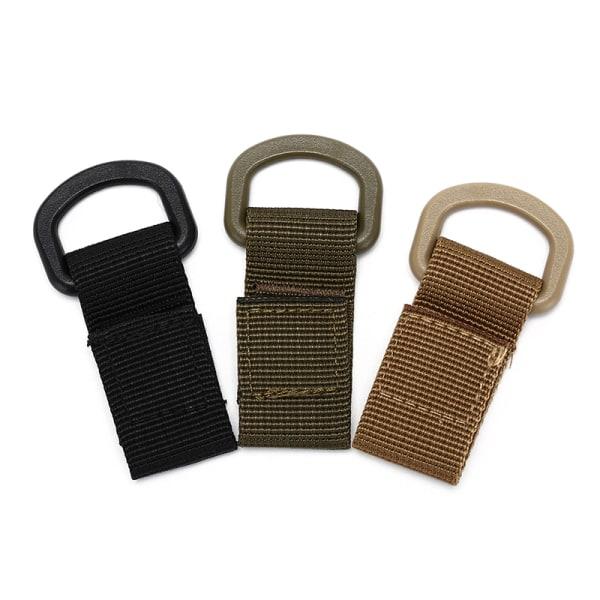 Utomhus Tactical Webbing Buckle Belt D-Ring Carabiner Buckle Ny