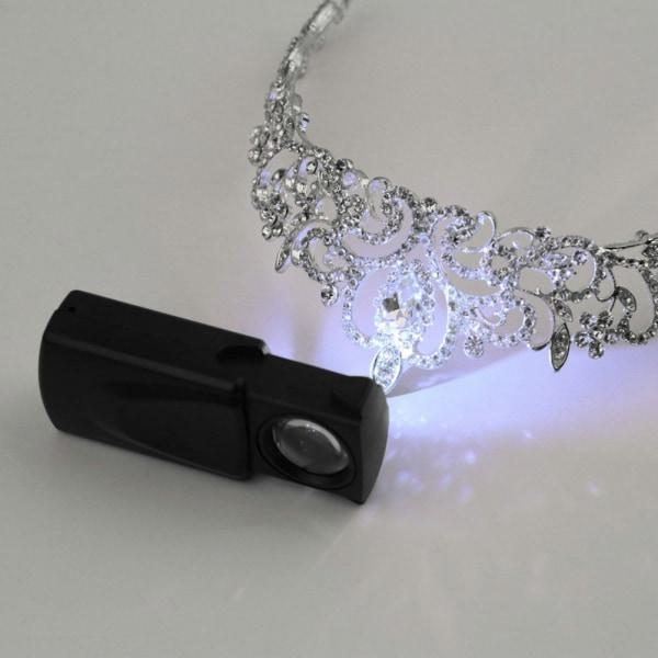 Ficka 30X21mm ögonglasobjektiv Juvelerare Lupp Förstoringsglas Förstoringsglas