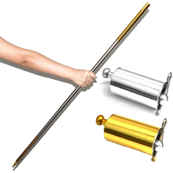 Portable Martial Arts Metal Magic Pocket Bo Staff 110cm New Pock Gold