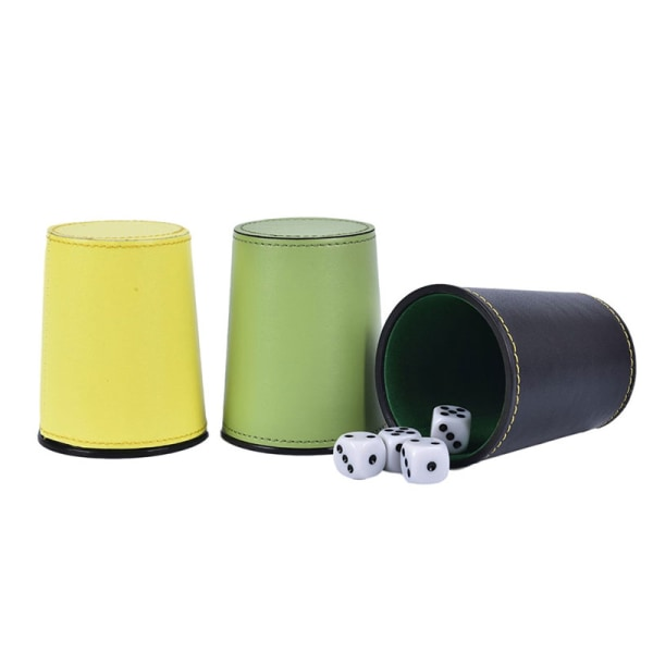 PU Läder Flanell Dice Cup Bar KTV Entertainment Dice Cup With