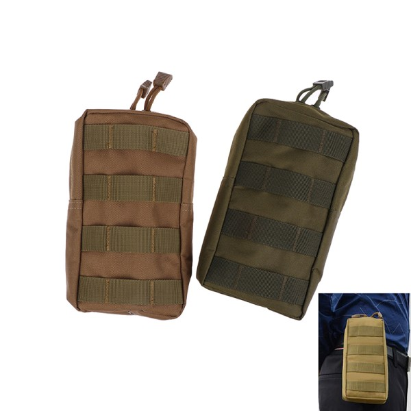 Sports Pouch Tactical Utility Bags for Vest Backpack Waist Pouch Army green