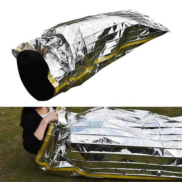 Användbar Emergency Survival Outdoor Kit Rescue Thermal Space Slee