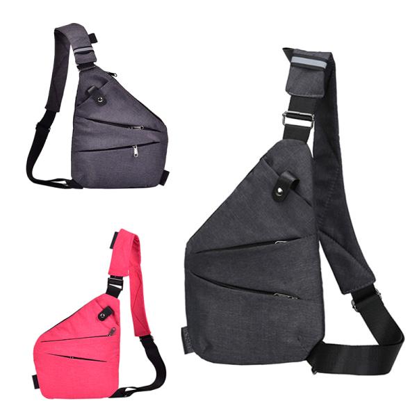 Waterproof Crossbody Personal Shoulder Pocket Bag Business Trav Gray Right