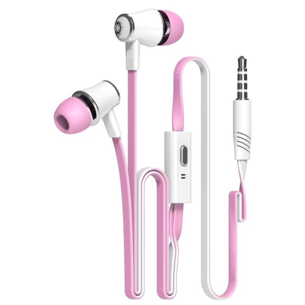 2-Pack Hörlurar JM21 - finns i 10 olika färger rosa x 2