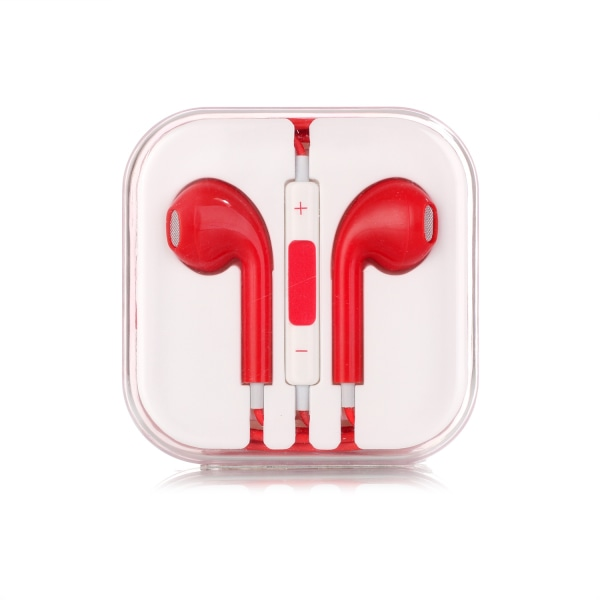 2-pack Hörlurar med Mikrofon för iOS & Android vit + svart